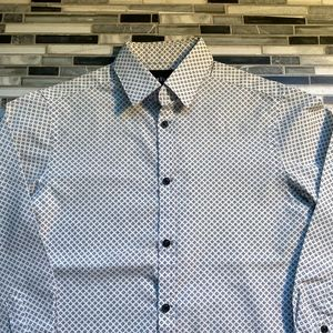 Van Heusen white button down shirt